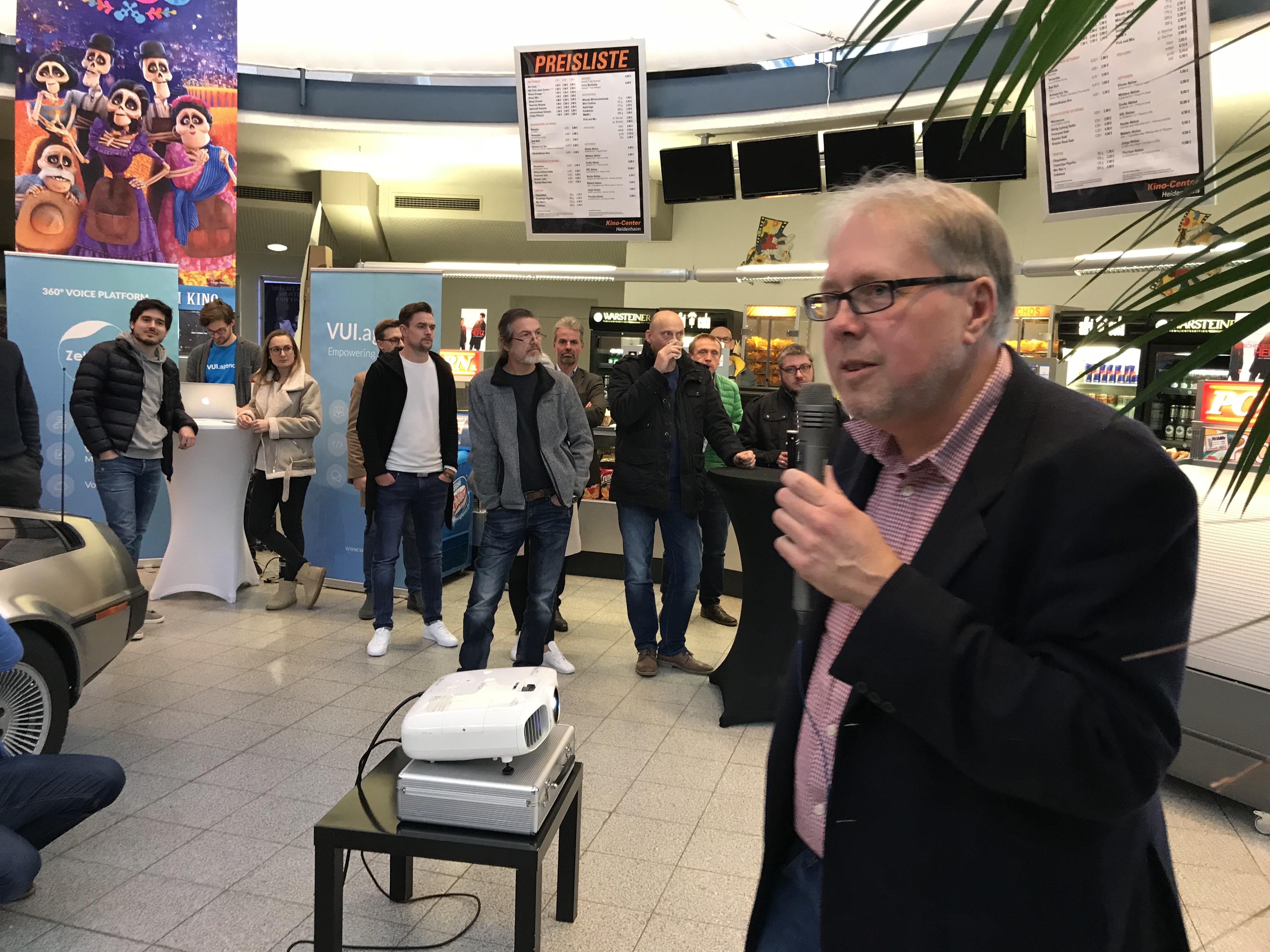 Prof. Hänisch bei der Eröffnung des Science-Fiction Engineering Day